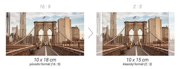 Ořez fotografie v poměru stran 16:9 na 2:3