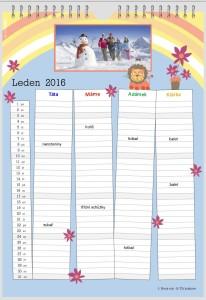 Rodinný fotokalendář
