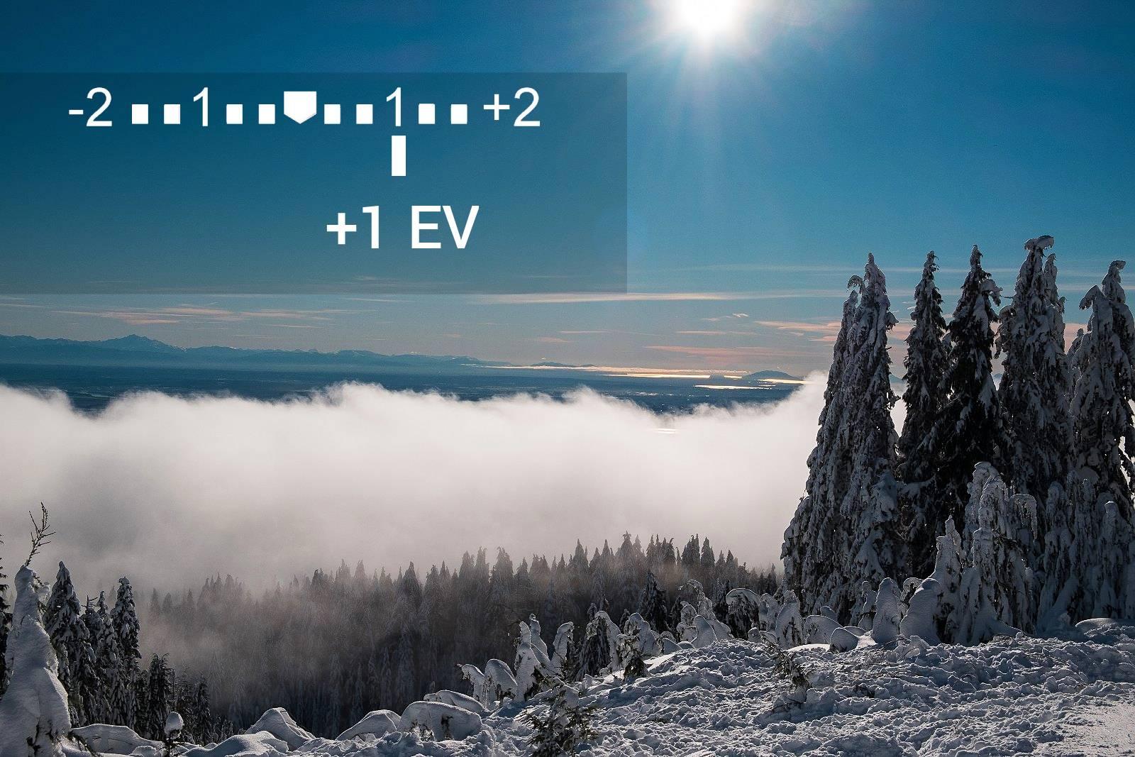 Korekce expozice +1EV
