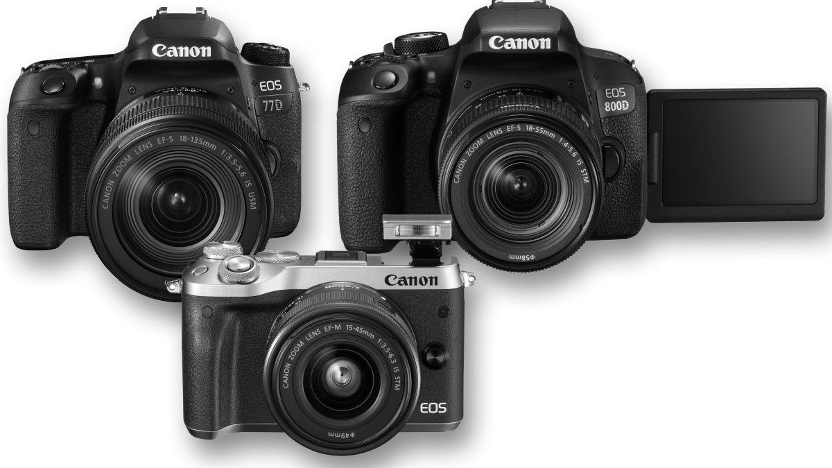 Canon M6, Canon Canon 77D, Canon 800D, Canon G9X MarkII