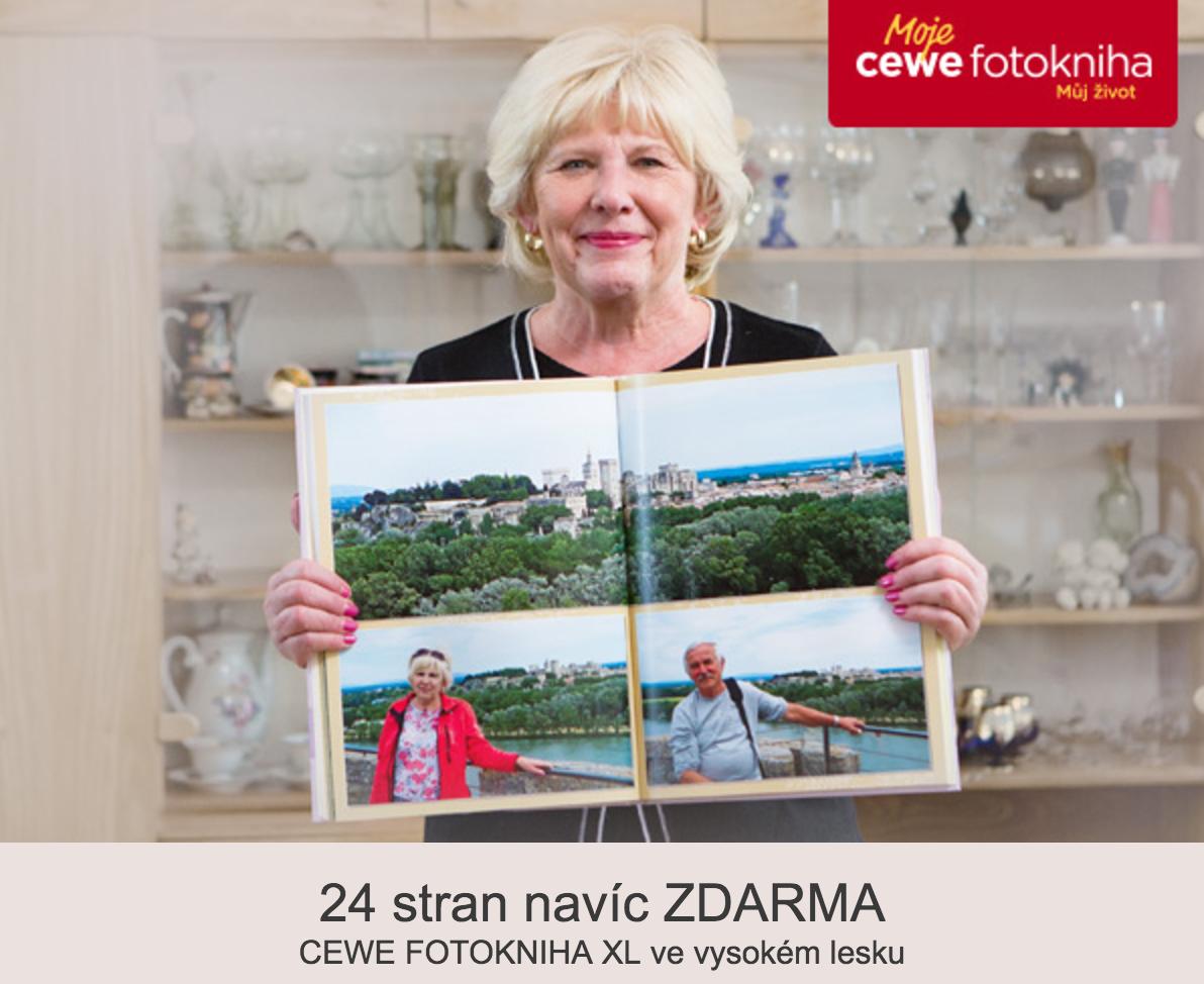 24 stran navíc k CEWE FOTOKNIZE XL