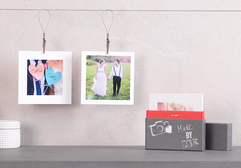 Square Prints s vlastní fotografií.