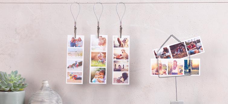 Mini Prints s vlastní fotografií.