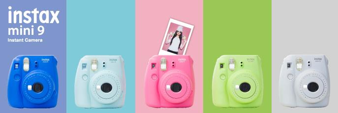 Fujifilm Instax Mini 9 barevné varianty