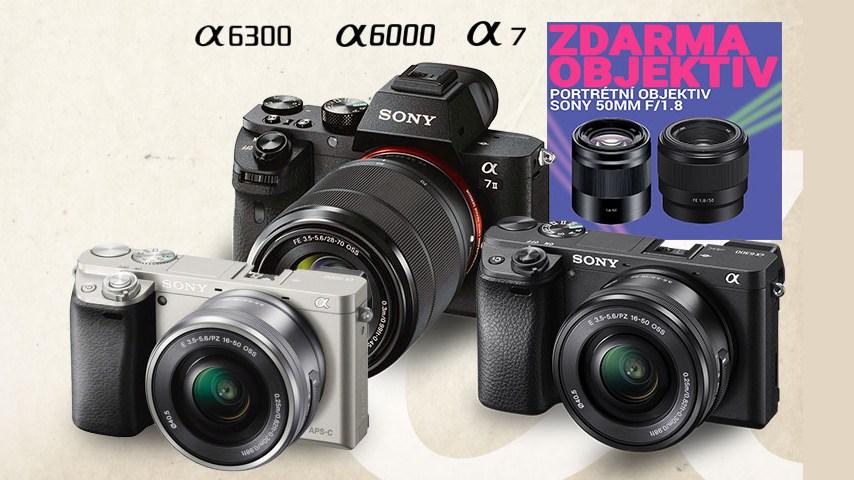 akce sony alpha 50mm zdarma