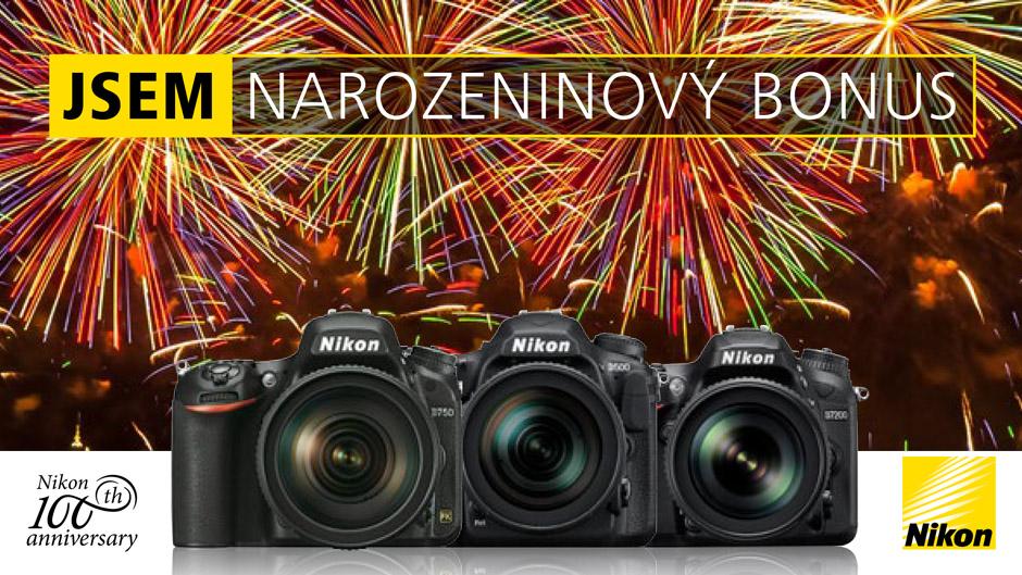 Nikon 100 let narozeninový cashback bonus