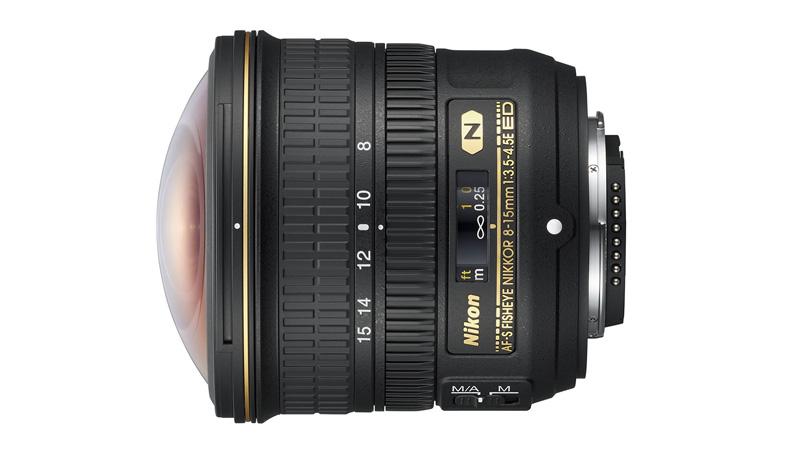 Nejširší zoomový objektiv Nikkor FX rybí oko
