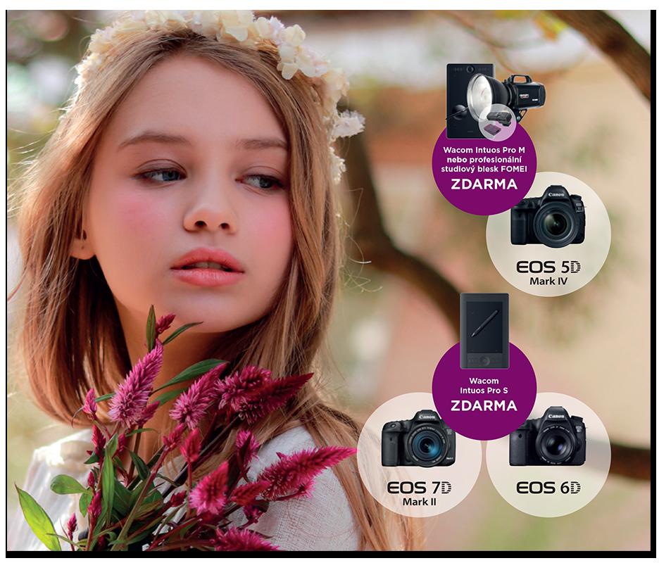 Canon EOS akce tablet Wacom nebo studiový blesk Fomei zdarma