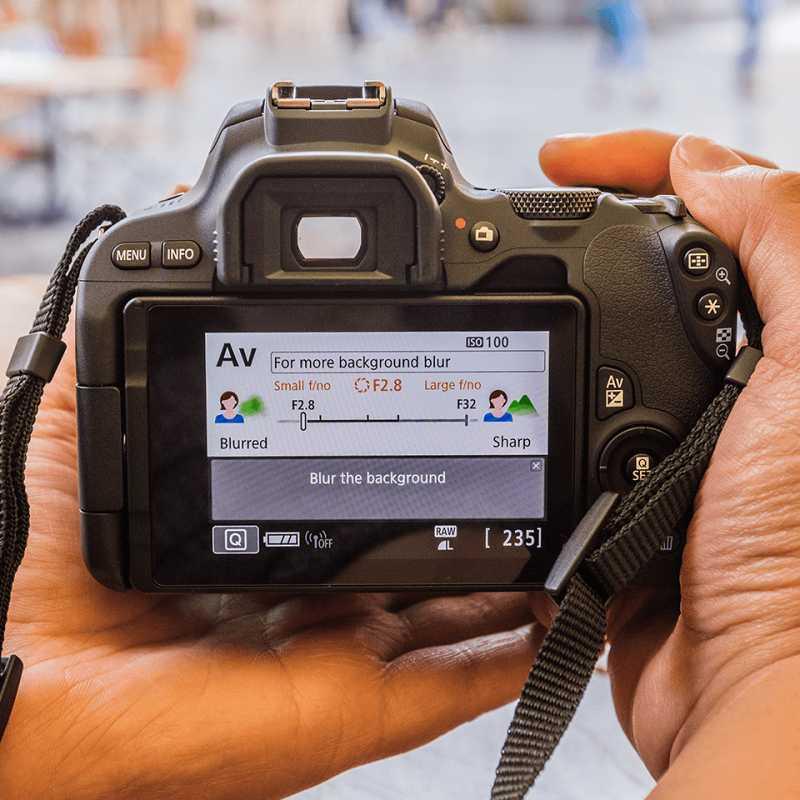 Canon EOS 200D záda displej