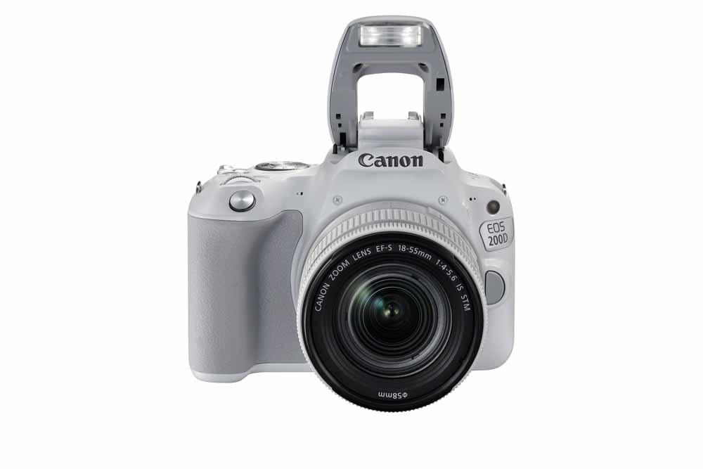 Canon EOS 200D bílý s bleskem