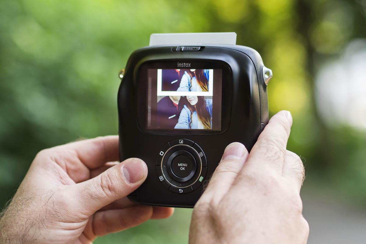Fujifilm Instax SQ10 displej
