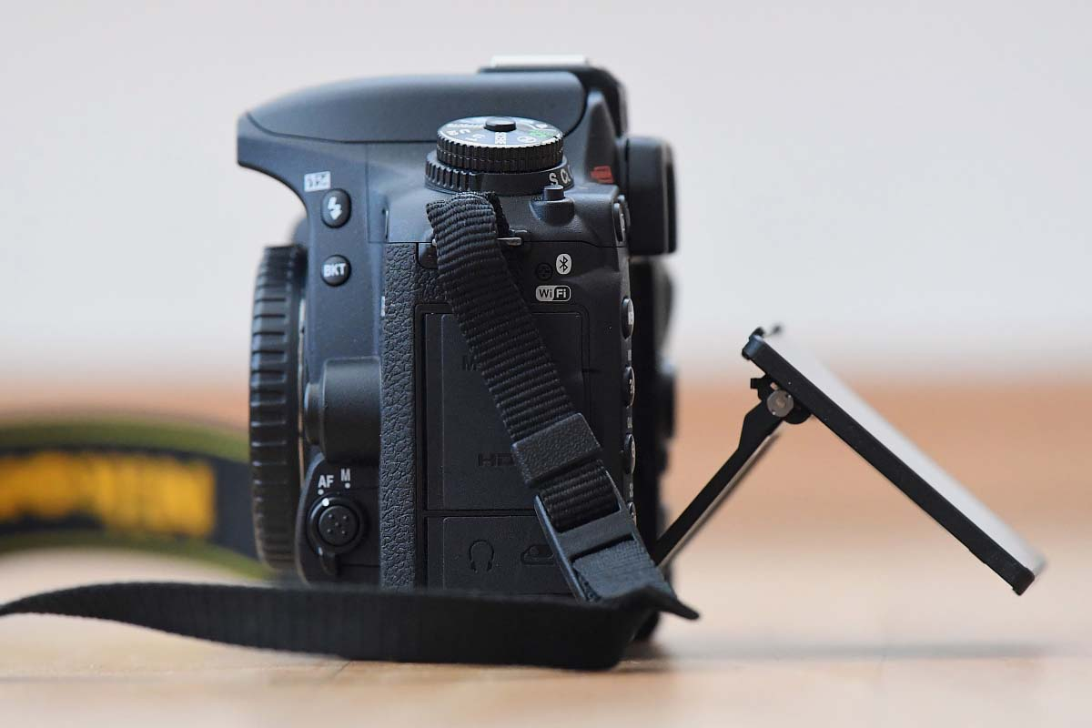 Nikon D7500 recenze displej