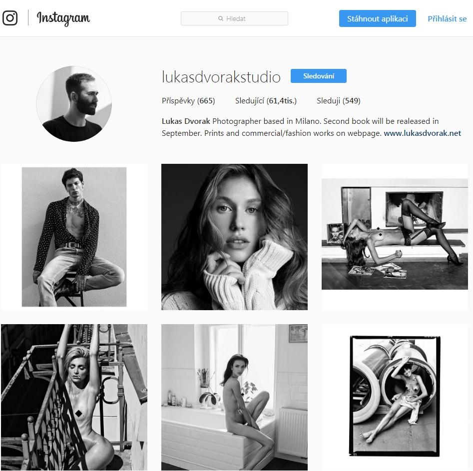 Instagramový profil fotografa Lukáše Dvořáka
