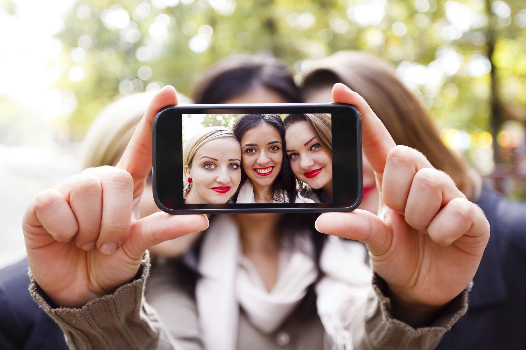 Selfie na chytrý telefon