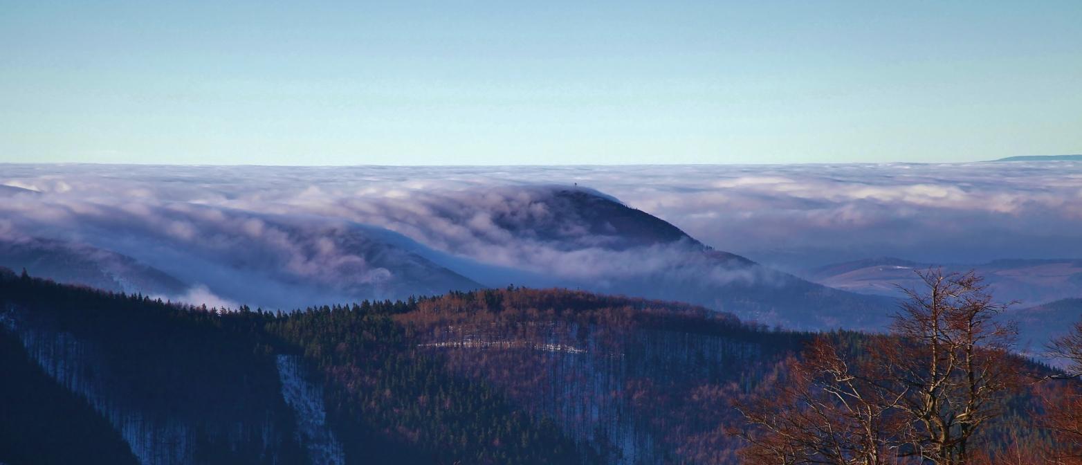 Pohled z Pusteven na Beskydy, CEWE soutěž Českem křížem krážem