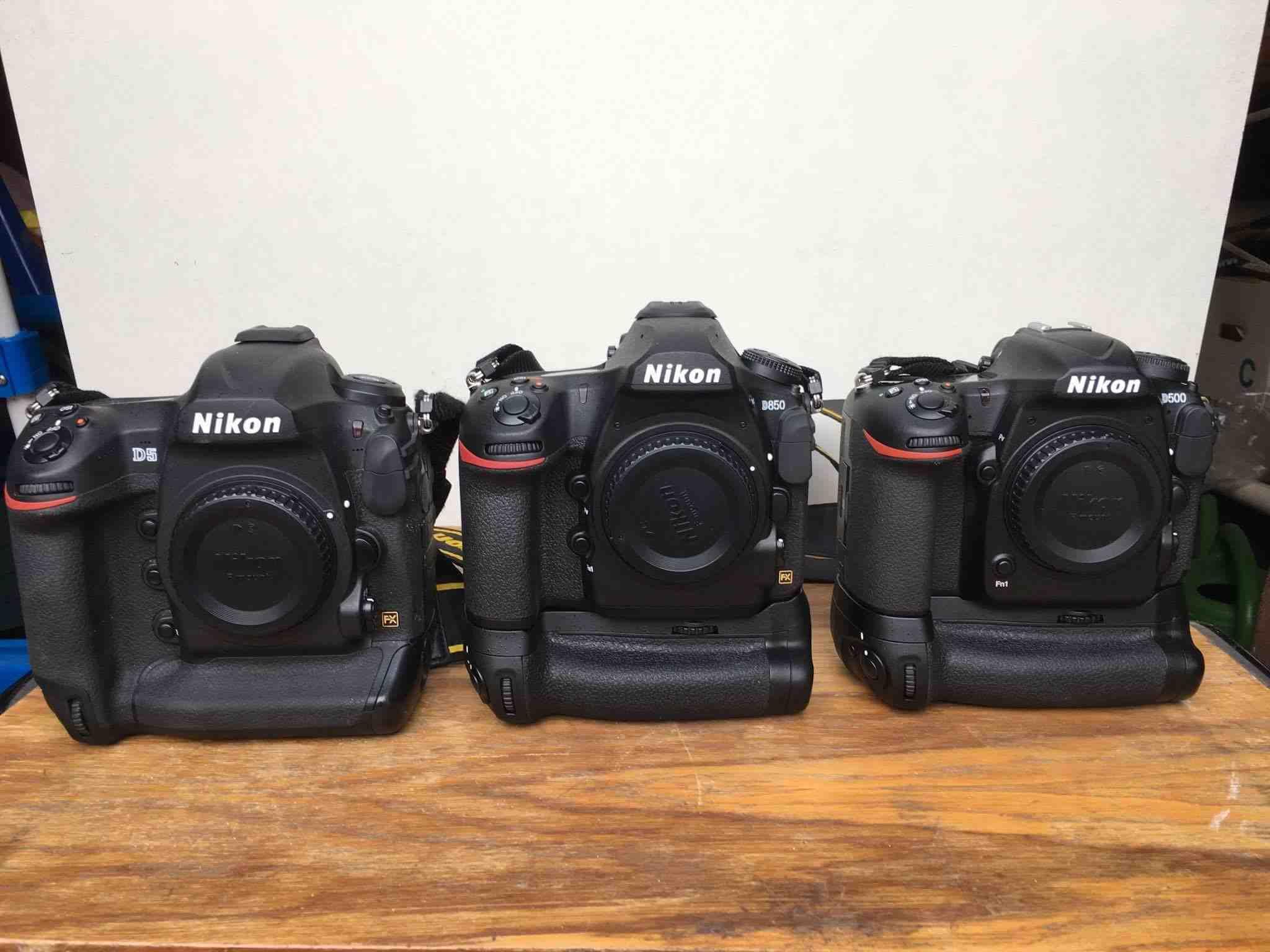 Nikon D850, D500, D5