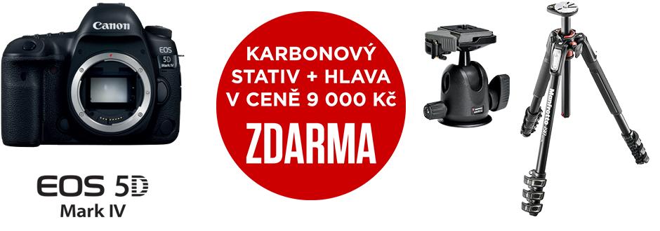 Canon EOS 5D Mark IV + karbonový stativ Manfrotto zdarma