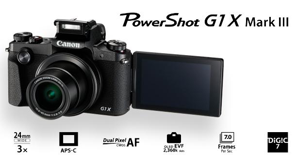 Nový kompakt s velkým snímačem Canon PowerShot G1 X Mark III