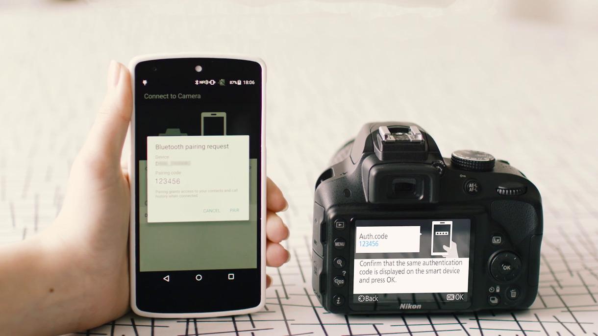 Bezdrátové sdílení fotografií ze zrcadlovek Nikon