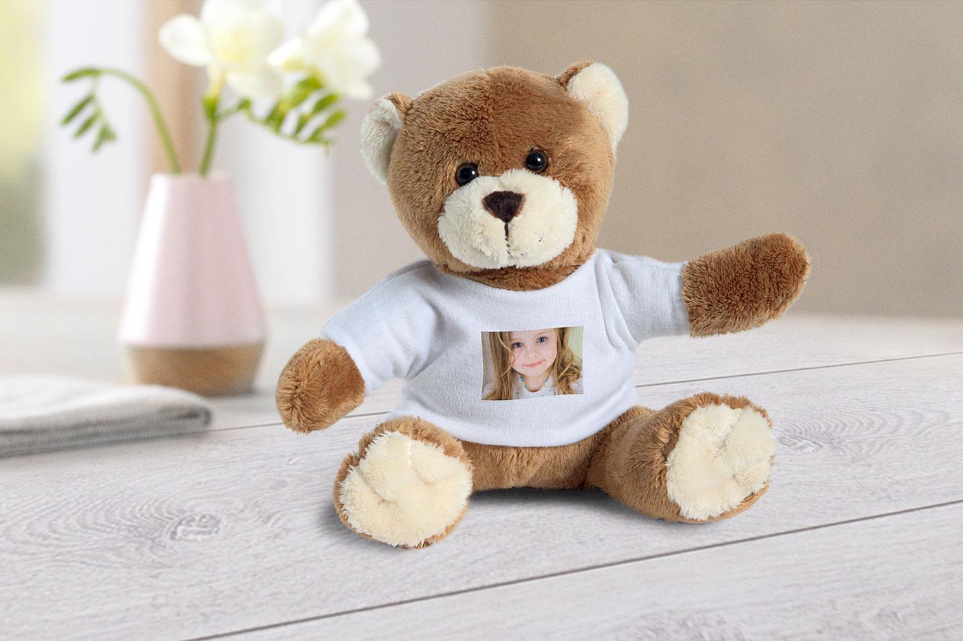 Medvídek s vlastní fotkou od FOTOLAB