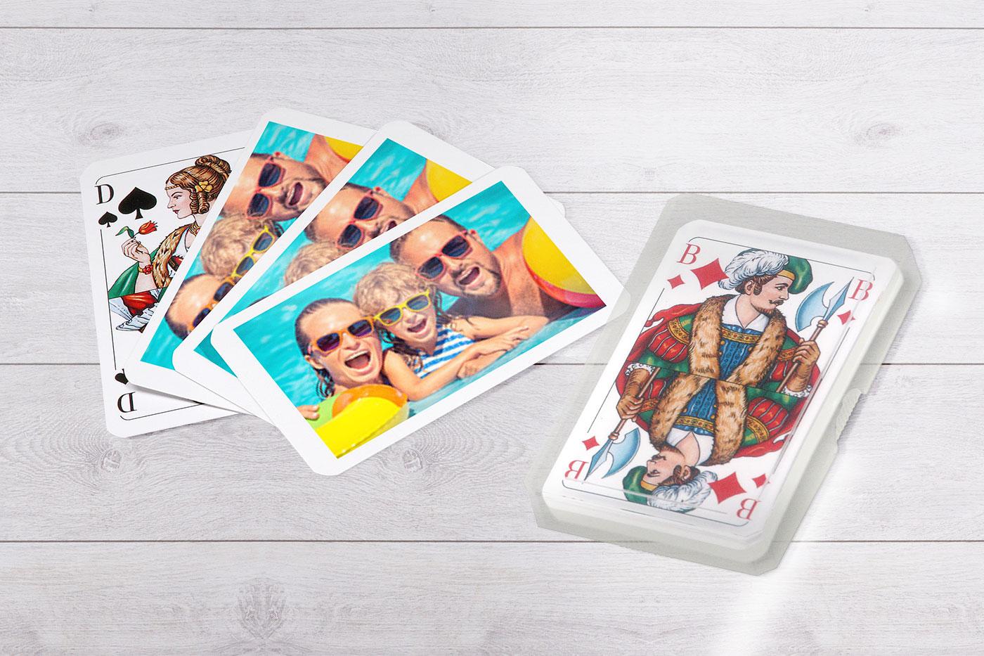 Hrací karty s vlastní fotkou.