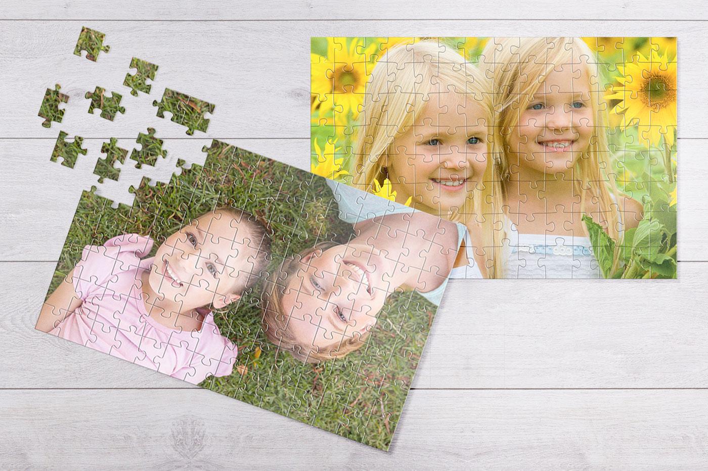 Puzzle s vlastní fotkou.