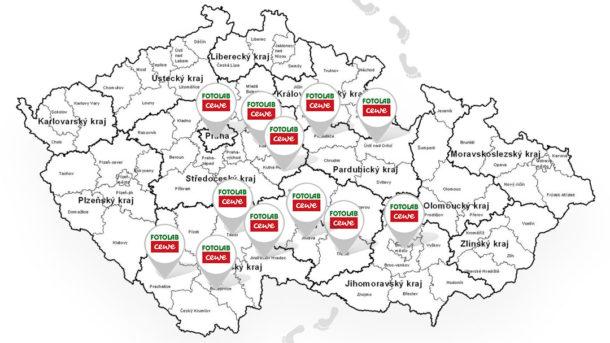 Prodejny FOTOLAB ve Středočeském kraji
