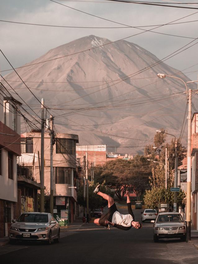 Sopka Misti, která se tyčí nad městem