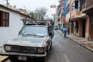 Jedna z bočních ulic Limy