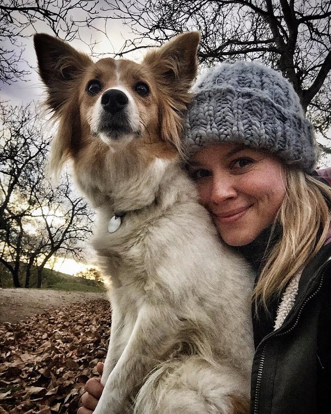 Patrície Solaříková a její pes.