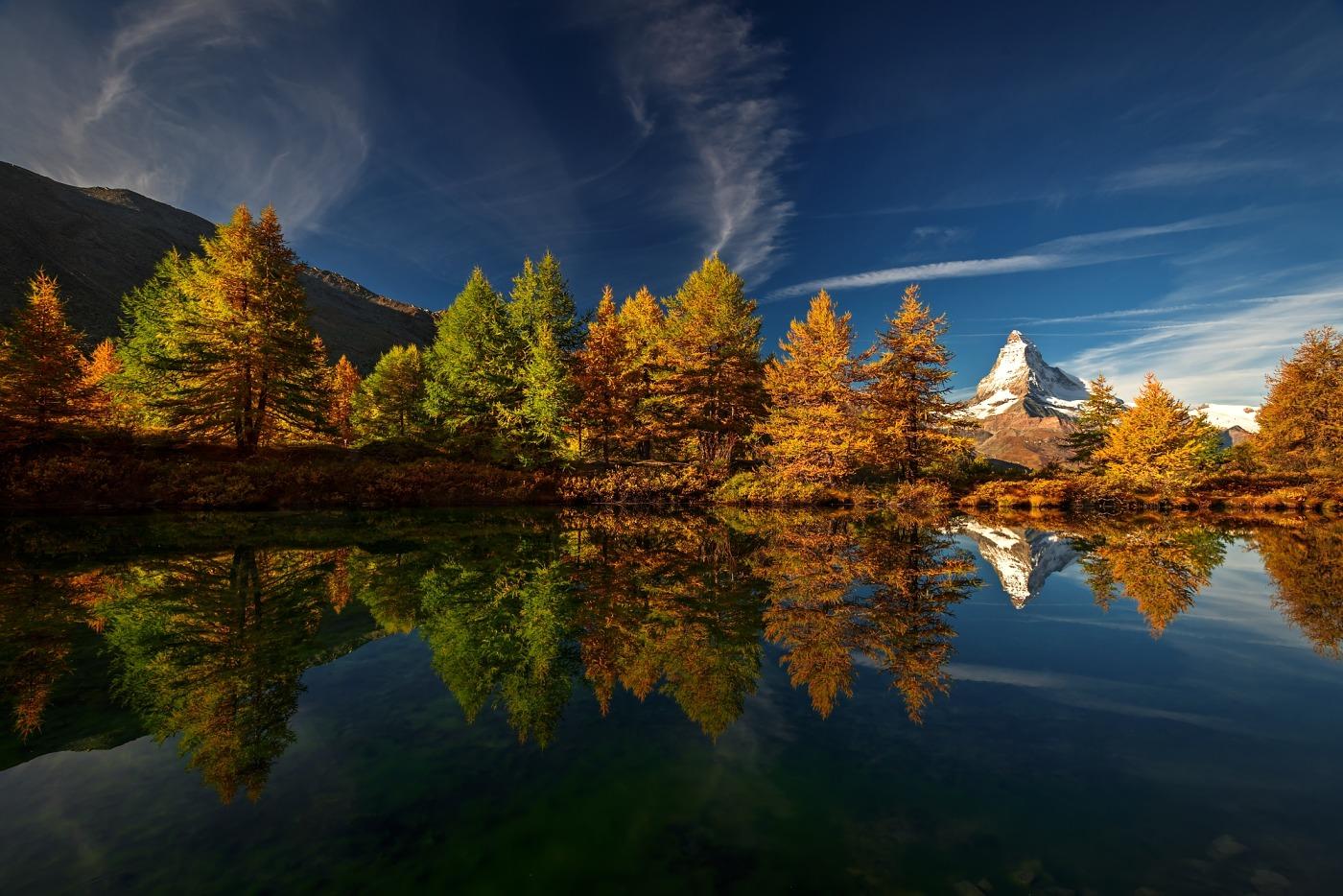 Matterhorn, Walliské Alpy, Švýcarsko. D600, Nikon 17-35mm f/2,8 AF-S, clona f/11, čas 1/60, ohnisko 17 mm, polarizační filtr VFFOTO PS US 77mm