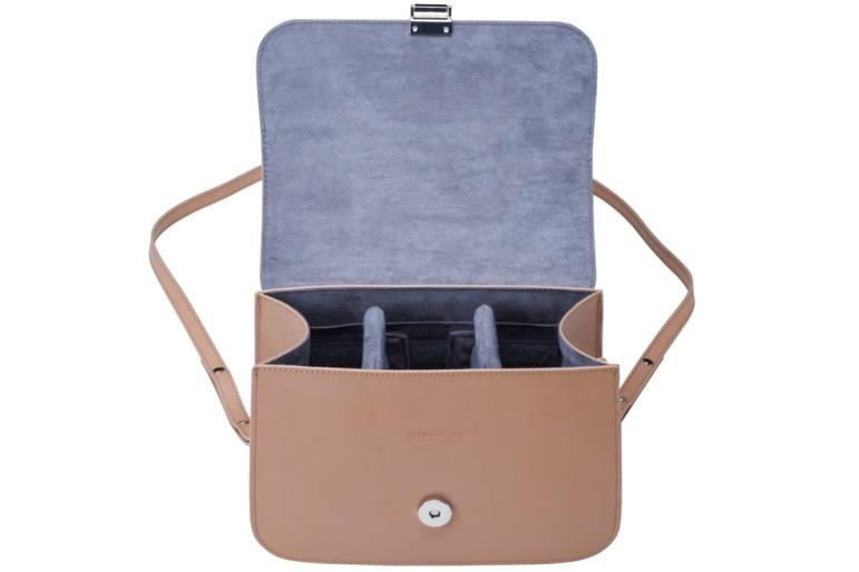 Olympus kožená kabelka Just Nude - béžová