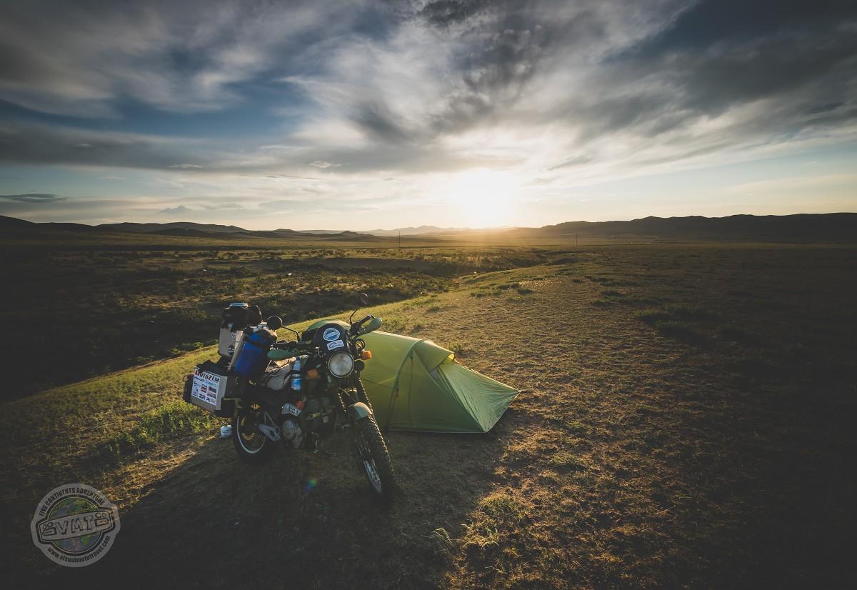První noc v Mongolsku.
