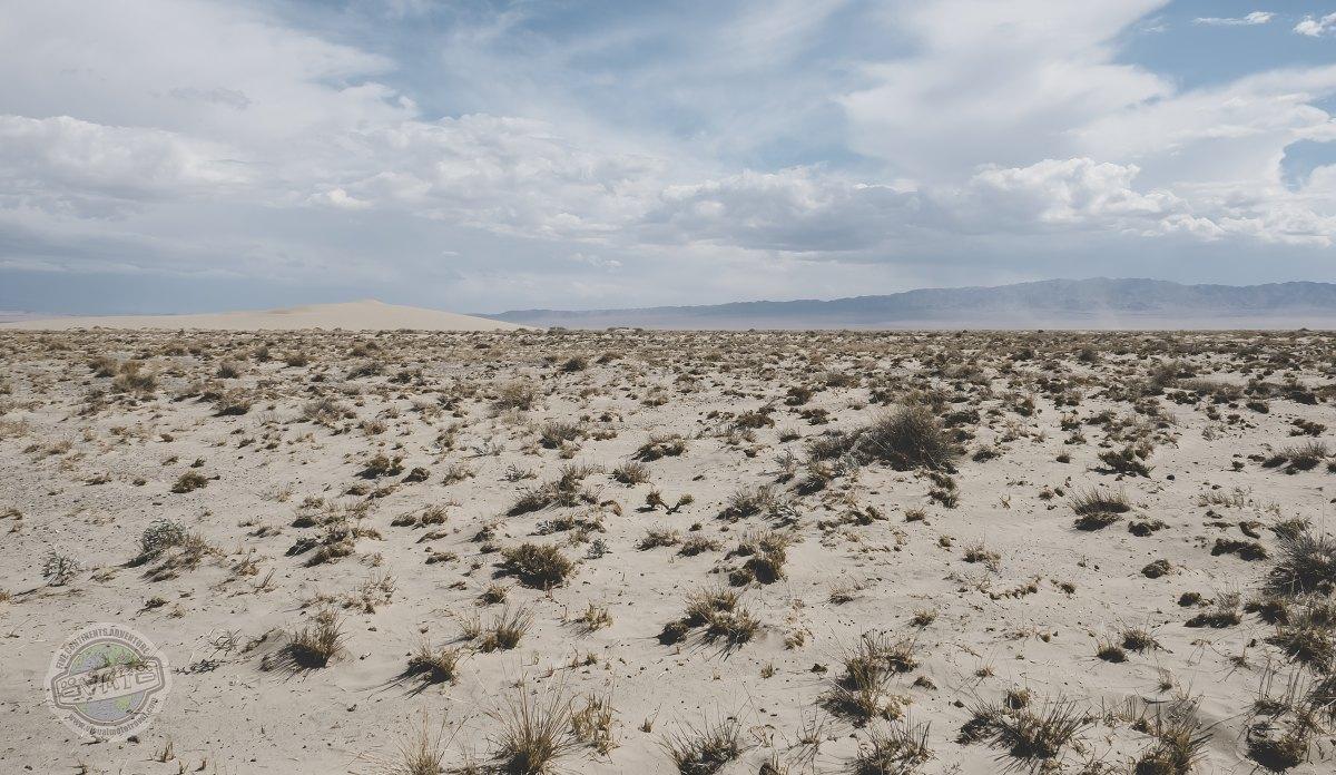 Okraj pouště Gobi.