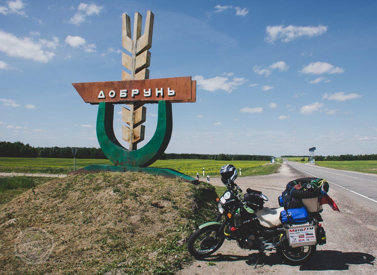 Cesta na Moskvu - nedaleko ruské hranice.