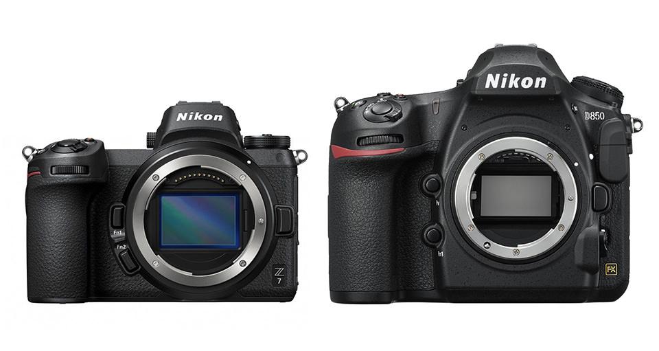 Nikon Z7 a Nikon D850