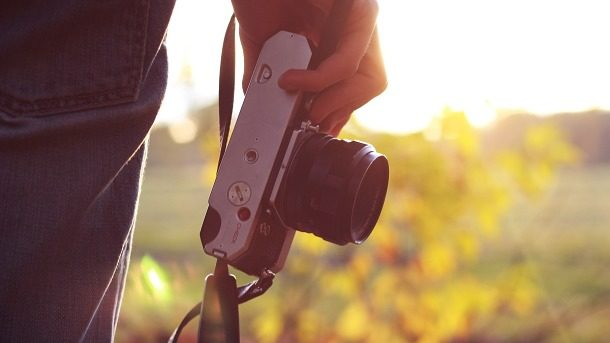 Fotoaparát při západu slunce 610