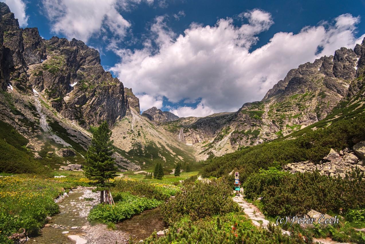 Vysoké Tatry: Malá studená dolina směrem na Térinku