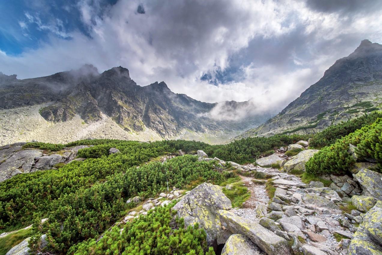 Vysoké Tatry: Panorama při Zbojnícké chatě