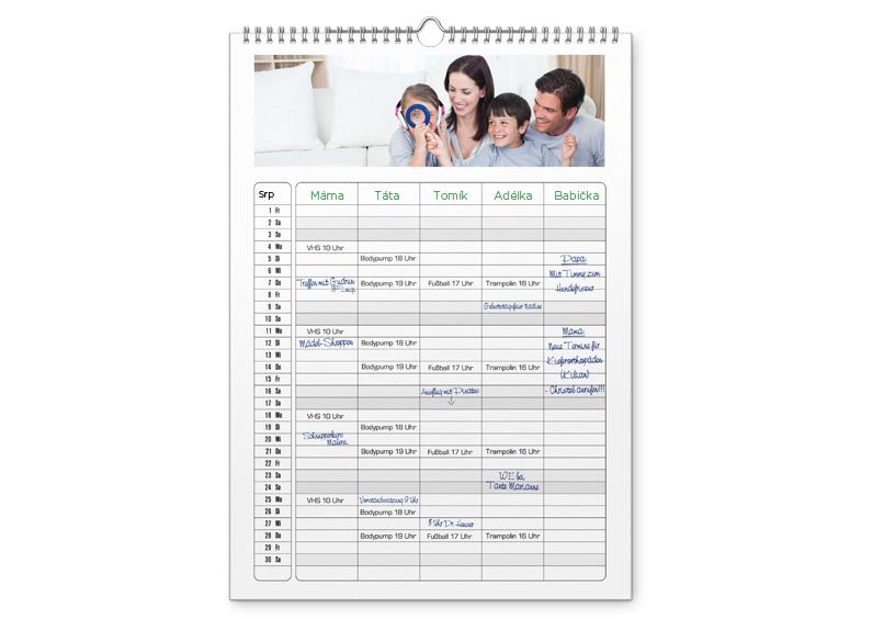 kalendář, rodinný