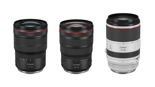 Svatá trojice Canon RF zoom f/2,8