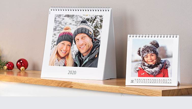 stolní kalendář, rodina, zima