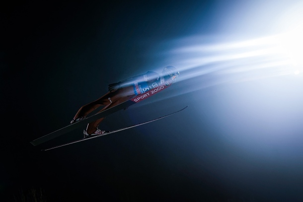 Skoky na lyžích (Sony A9)