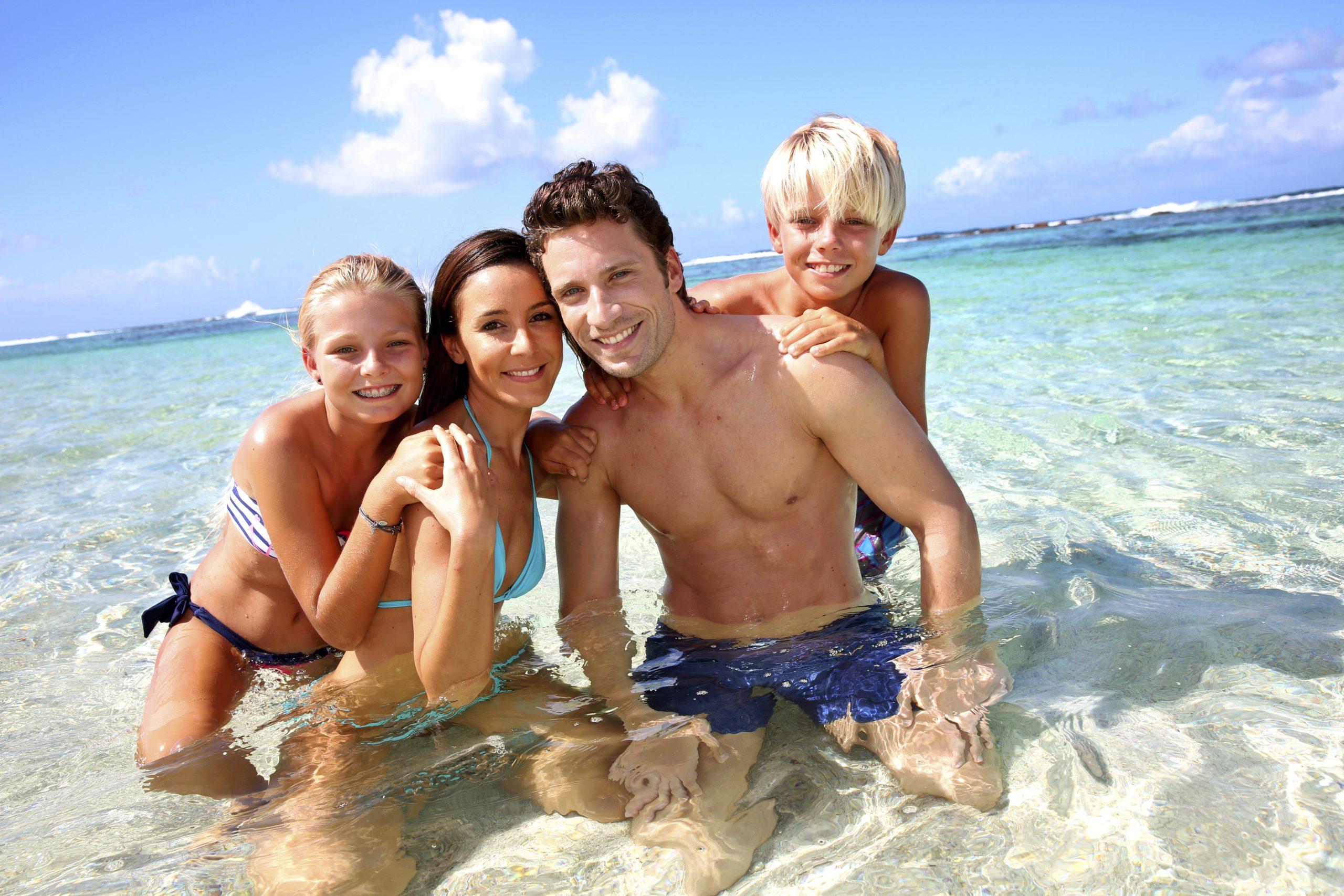 dovolená, moře, rodina