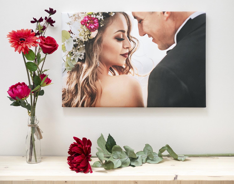 svatební, fotoobraz, svatba, láska, pár