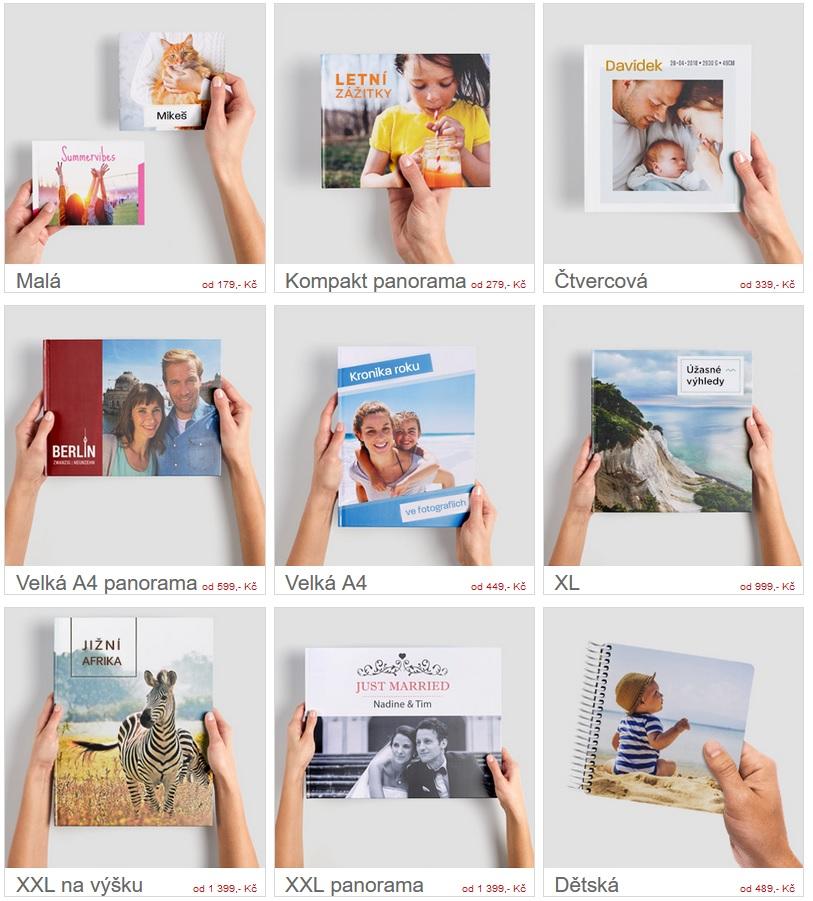 fotokniha, cewefotokniha, formáty