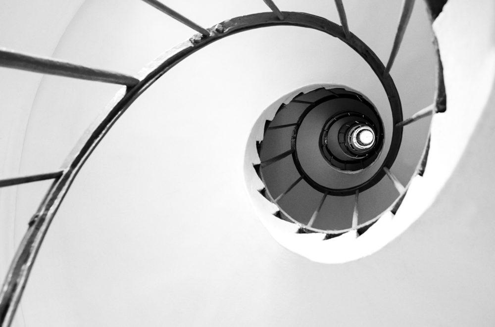 architektura, černobílá fotografie