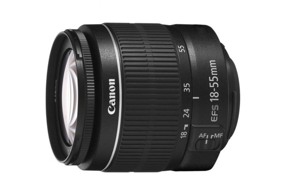 základní setový objektiv Canon EF-S 18-55mm f/3.5-5.6 DC III