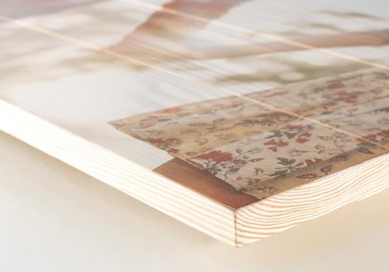 foto na dřevě, detail fota na dřevě