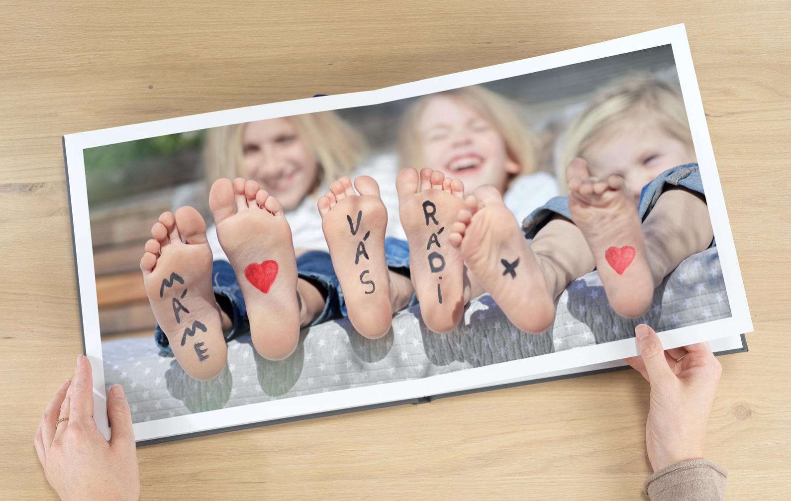 cele fotokniha, děti, xl kniha, formát XL, čtvercová fotokniha